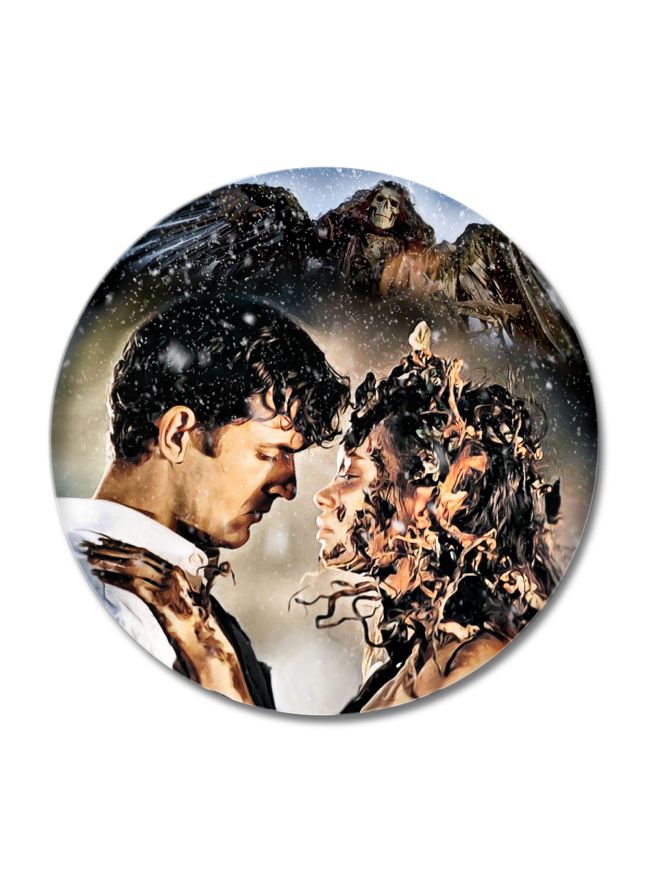 Image of Of Death Of Love by DeathStyle Art (Button & Sticker)