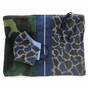 Image of DOUBLE CAMO POUCH - FOREST