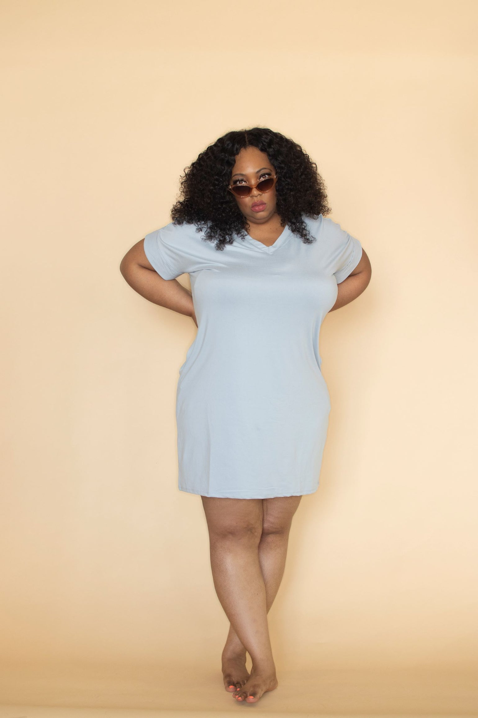 Image of Hautie Sky Blue Dress