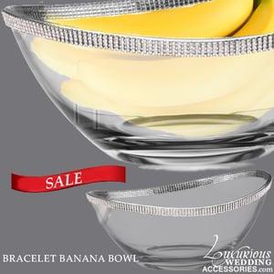 Image of Sparkling Crystal Bracelet Banana Bowl