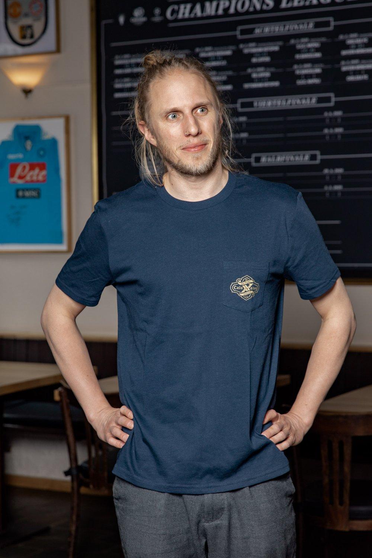 """Image of Pocketshirt Calva """"X"""" - Royal Blue"""