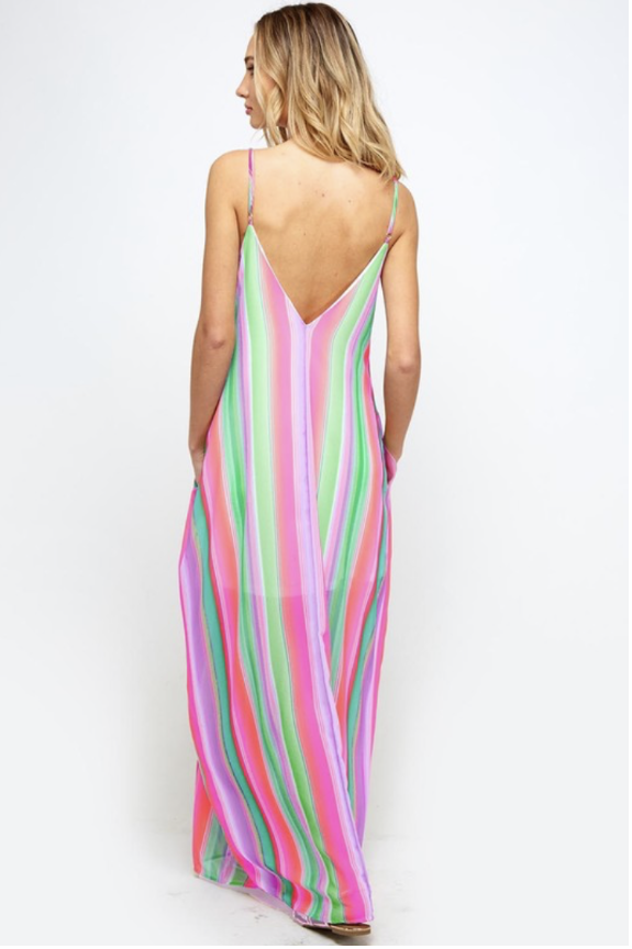 Image of Pink and Mint Maxi Dress