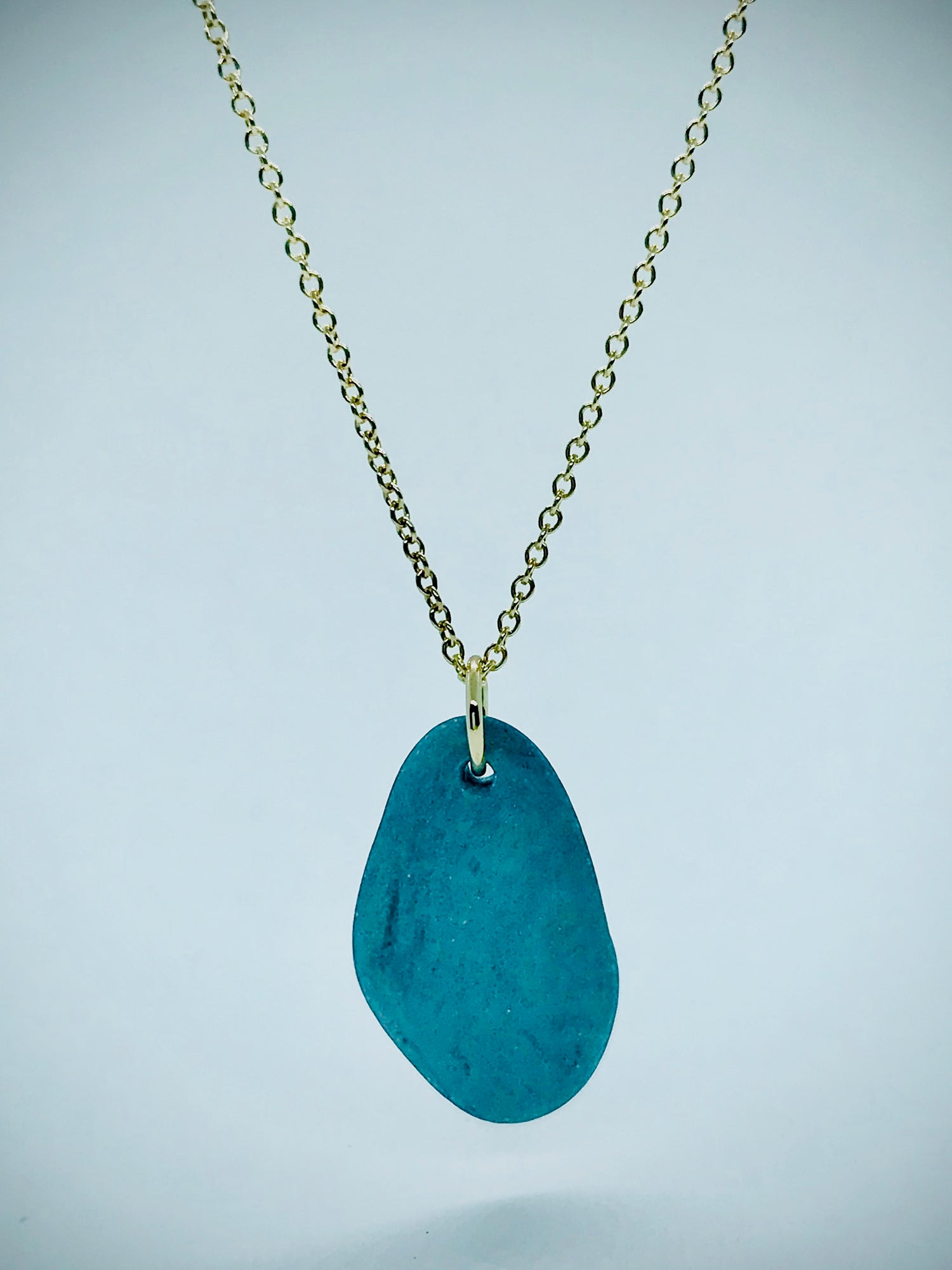 Image of Hudson River Rock on Gold Chain