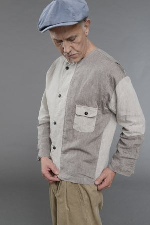 Image of The PRINTMAKER shirt - Patchwork 2 colours £210.00