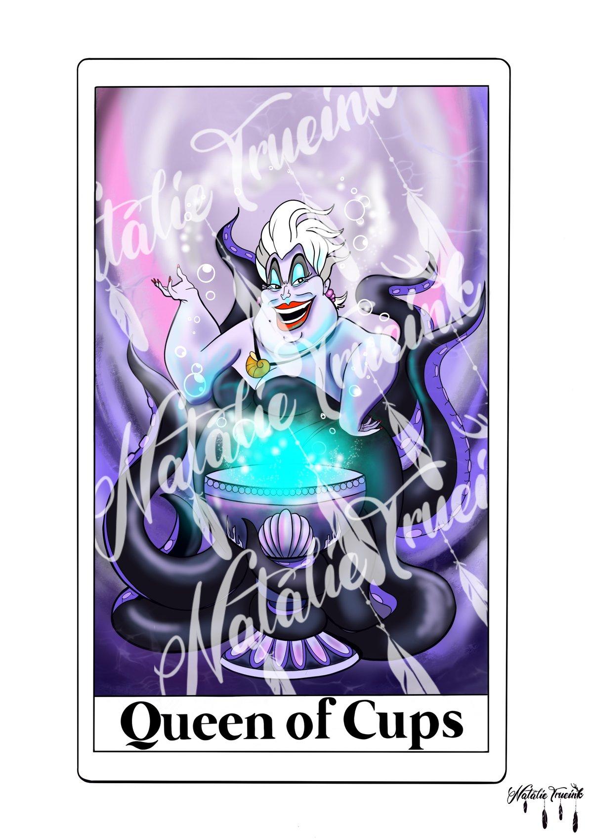 Ursula - Queen of Cups Tarot card print A4