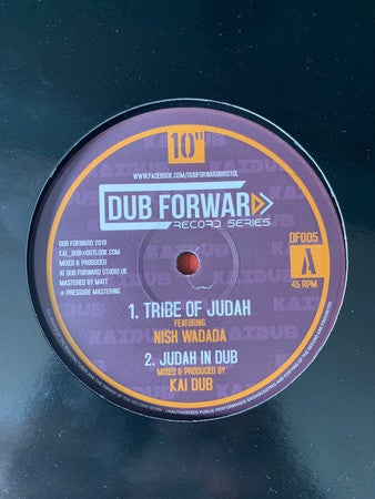 KAI DUB FEAT. NISH WADADA & I DAVID* ‎– TRIBE OF JUDAH / ROOT OF DAVID / DF005 / DUBFORWARD