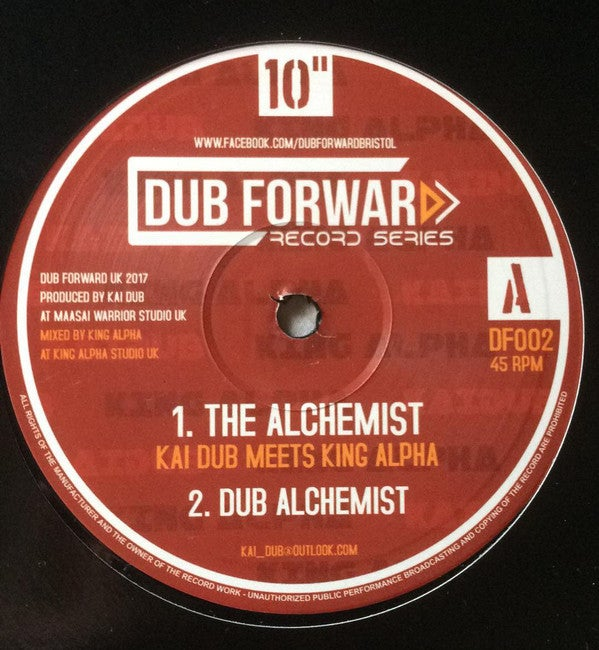 KAI DUB MEETS KING ALPHA ‎– THE ALCHEMIST / ROARING LION / DF002 / DUBFORWARD