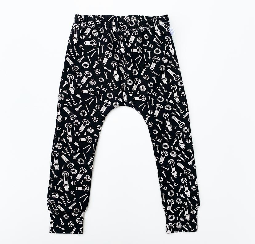 Image of Black Nuts & Bolts Leggings