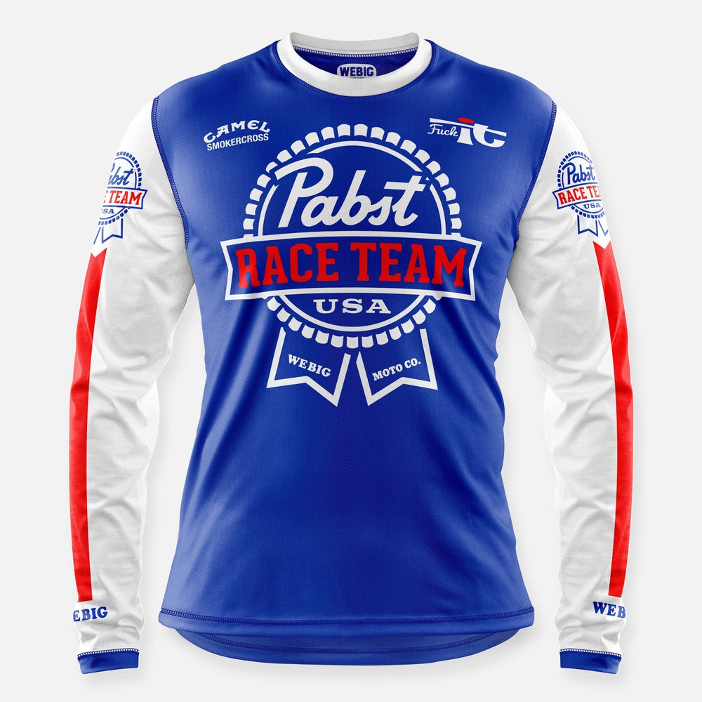 Image of PABST RACE TEAM JERSEY ROYAL BLUE