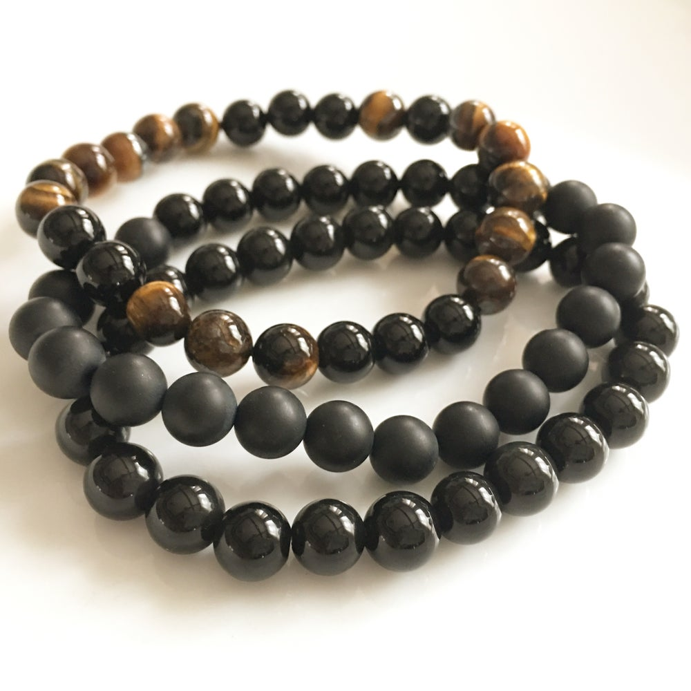 Image of GEMSTONE MENS BRACELET