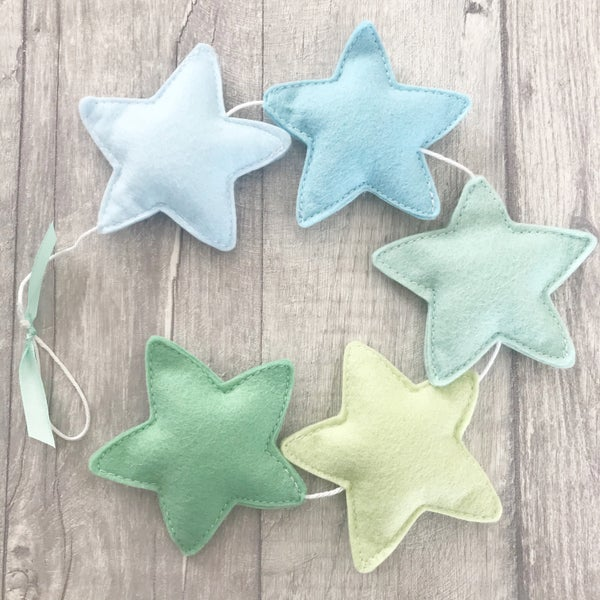 Image of Blue & Green Star Garland