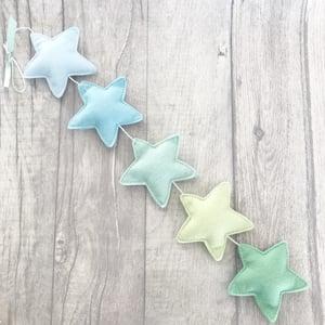 Image of Blue & Green Star Garland