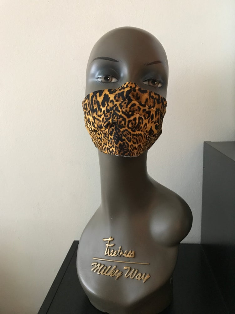 Image of Leopard print face mask