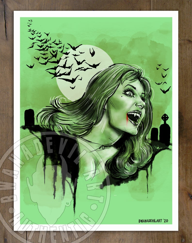 Image of Ingrid Pitt (The House that Dripped Blood)Art Print