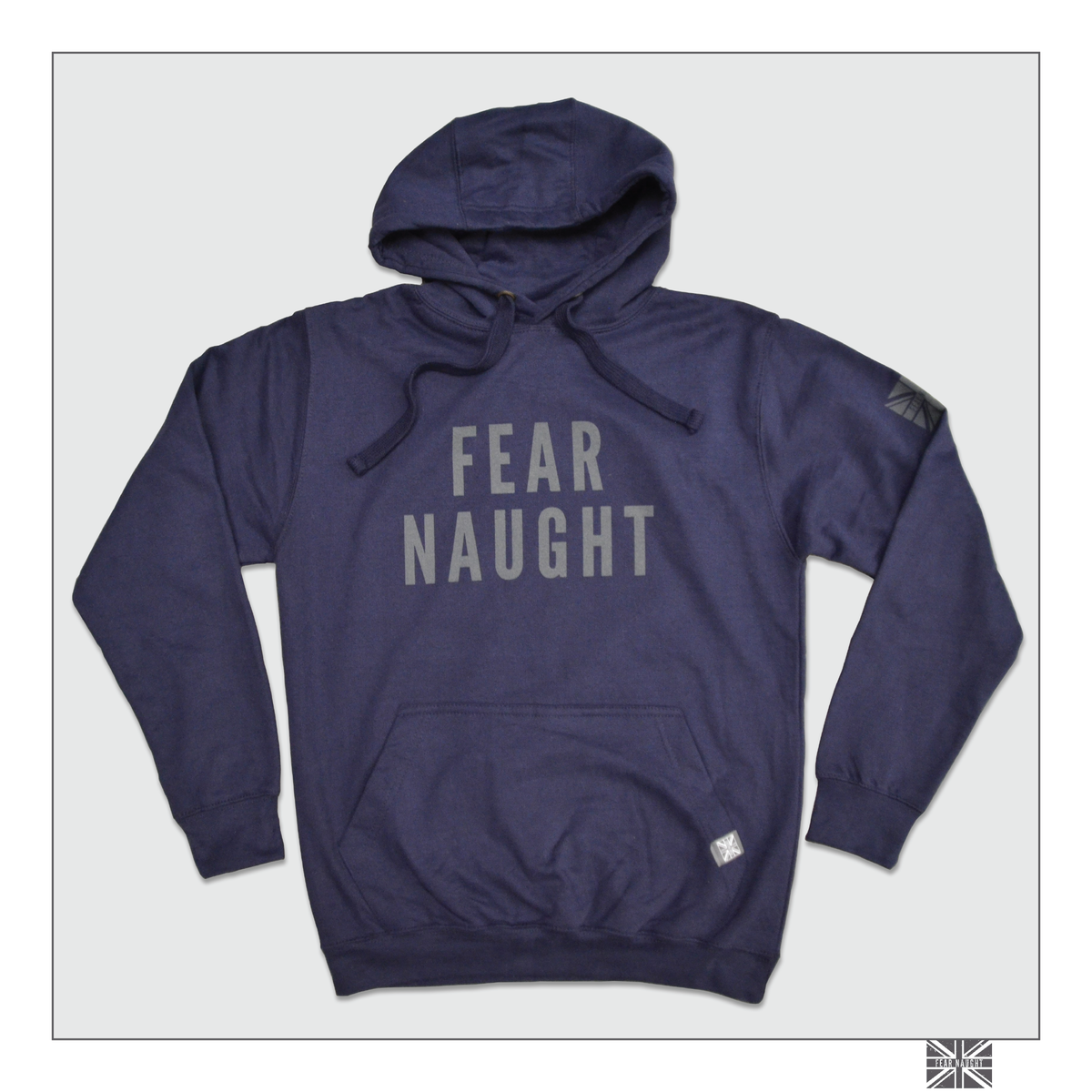 Image of Fear Naught Hooded Top - Navy