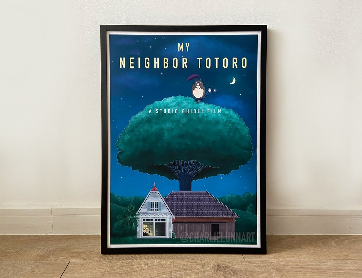 Image of My Neighbor Totoro Digital Art Film Print