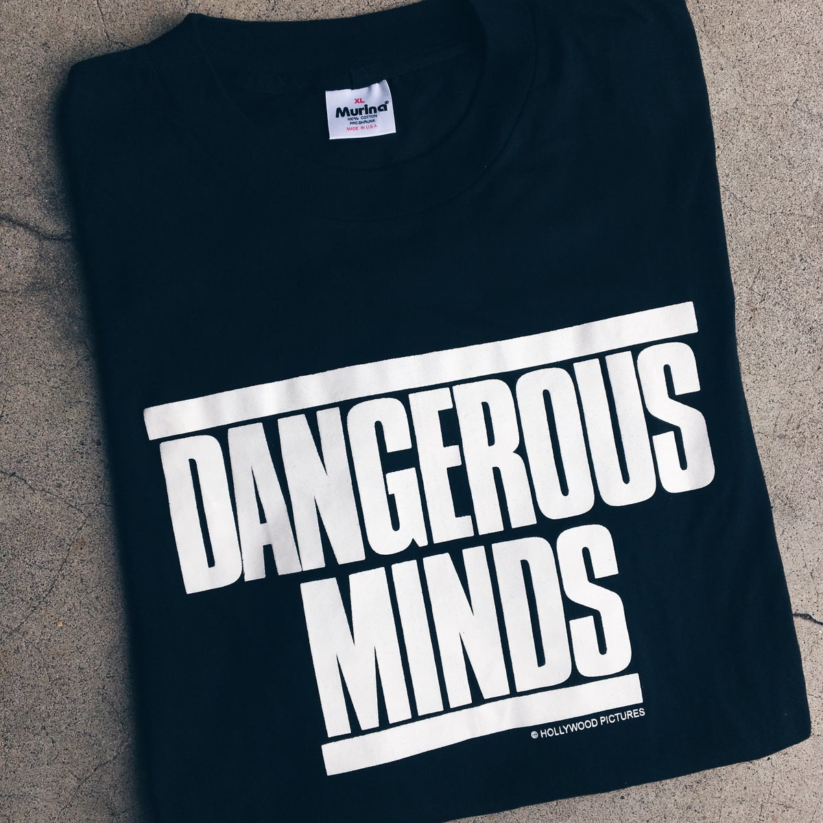 Image of Original 1995 Dangerous Minds Movie Promo Tee.