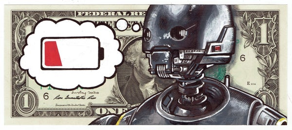 Image of Real Dollar Original. Flatbot.