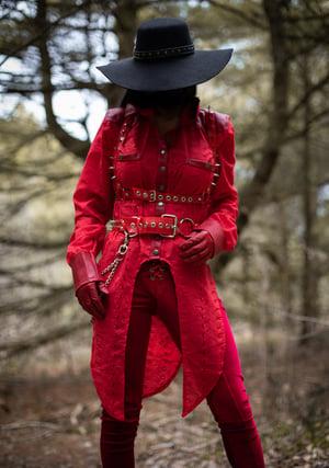 Image of Red Switchblade belt