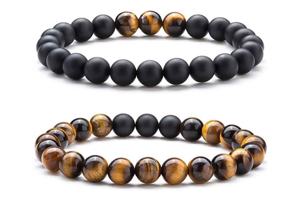 Image of MIX TIGER EYE ONYX BRACELET