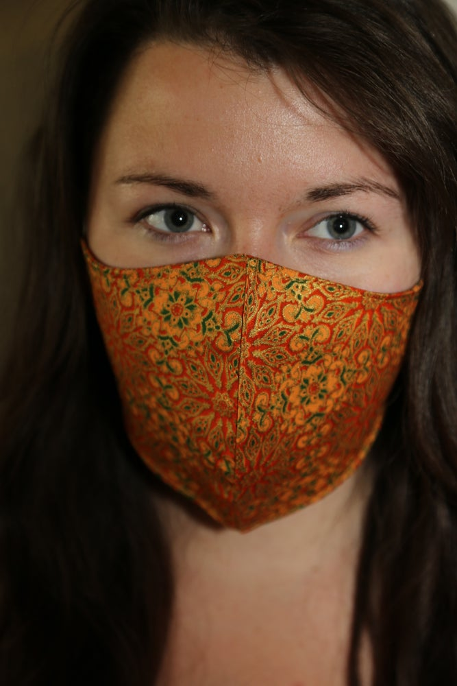Image of Apricot Mandala Cotton Mask