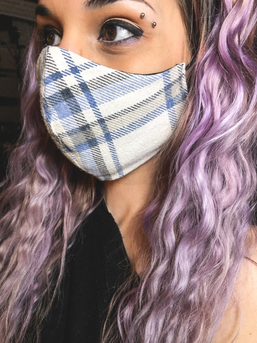 Image of Reversible Flannel Face Mask