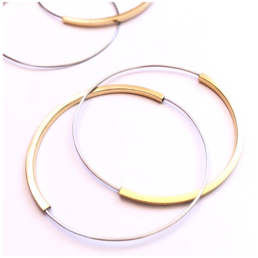 Image of Arracades reflex or. Pendientes reflejo oro