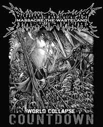 "Image of MASSACRE THE WASTELAND - SHIRT ""WORLD COLLAPSE COUNTDOWN"""