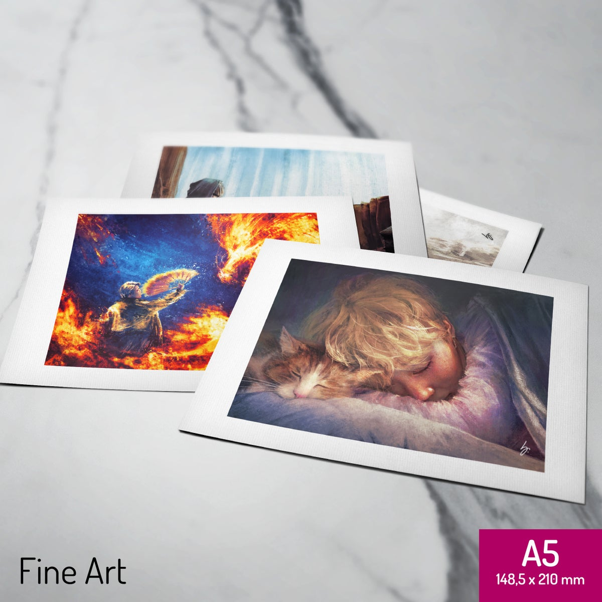 Image of Set of 4x A5 fine art prints (your choice)