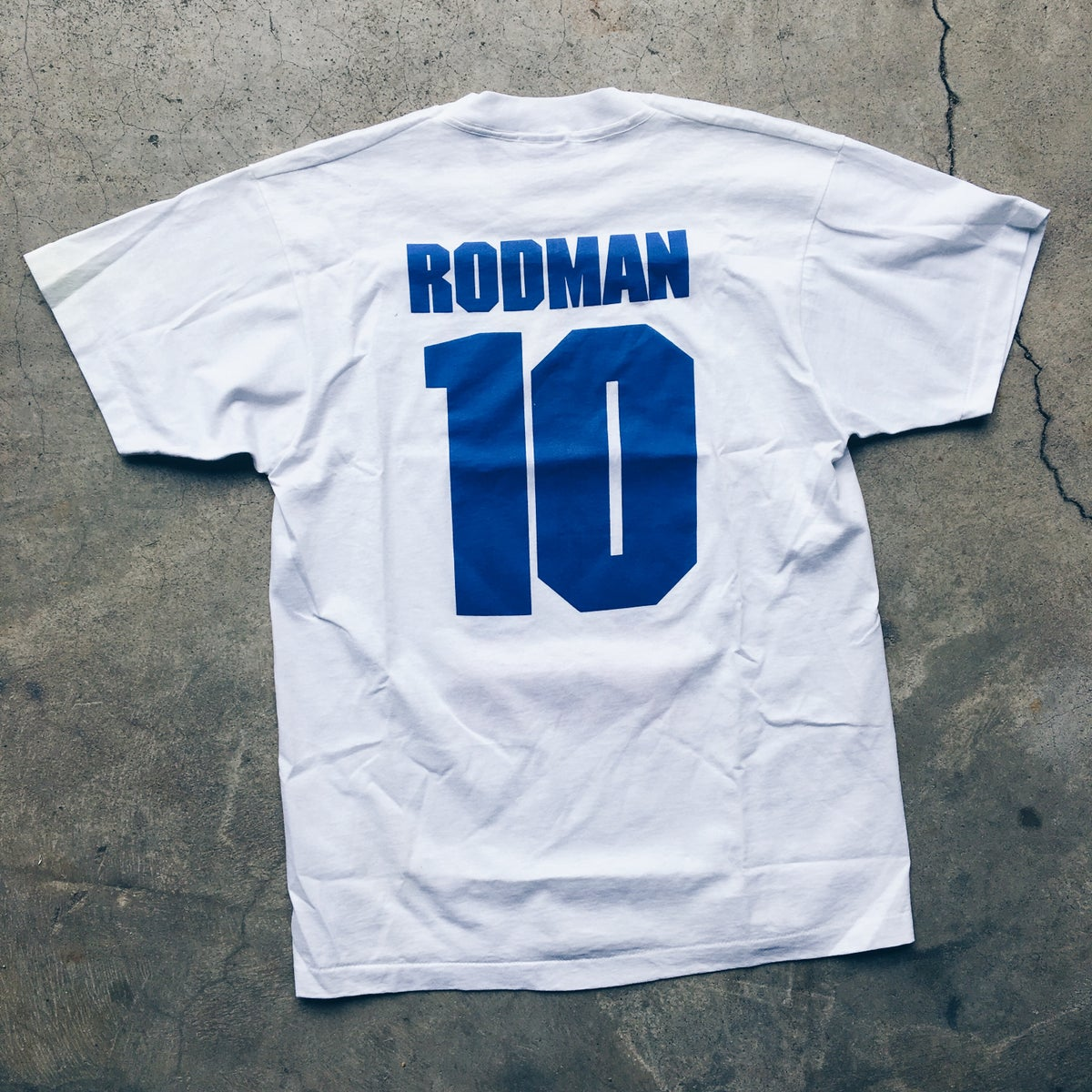 Image of Original Early 90's Dennis Rodman Detroit Bad Boys Tee.