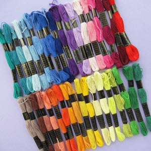 Image of Embroidery Thread Rainbow: 36 Colours