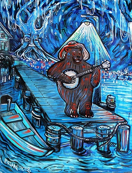 Image of Boat Dock Bear.