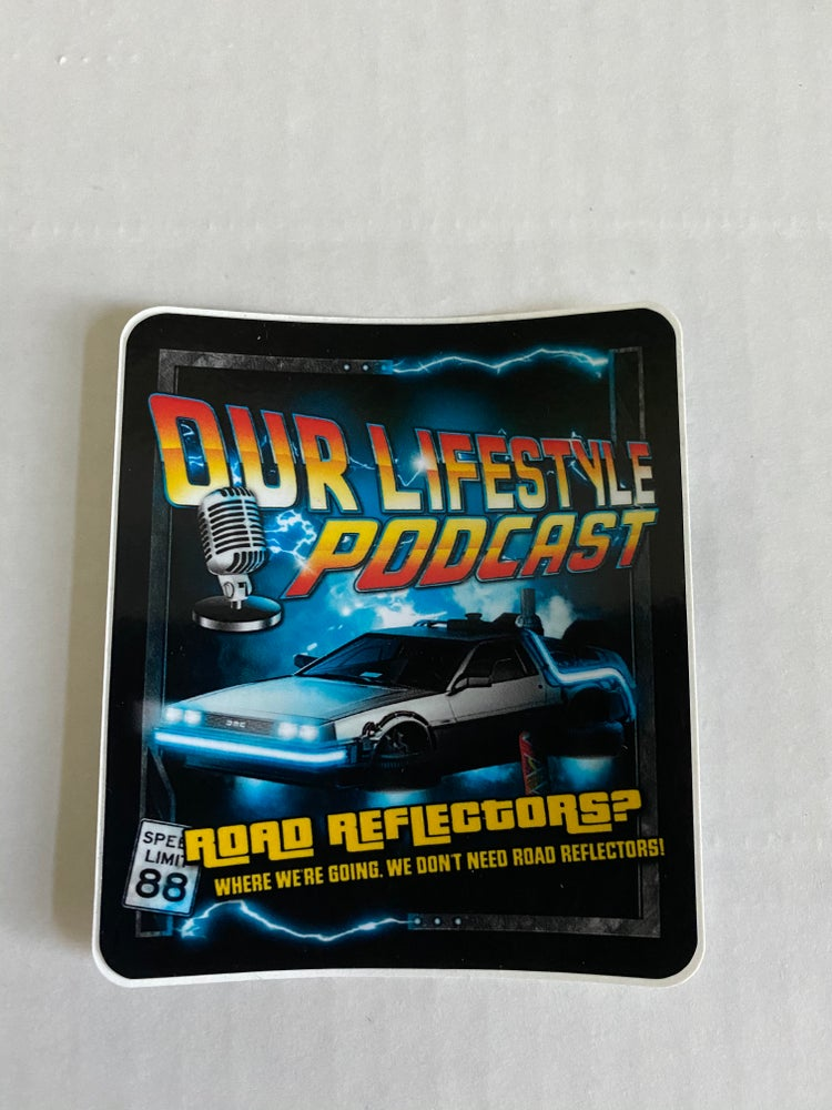 Image of Back to the Future Artwork sticker