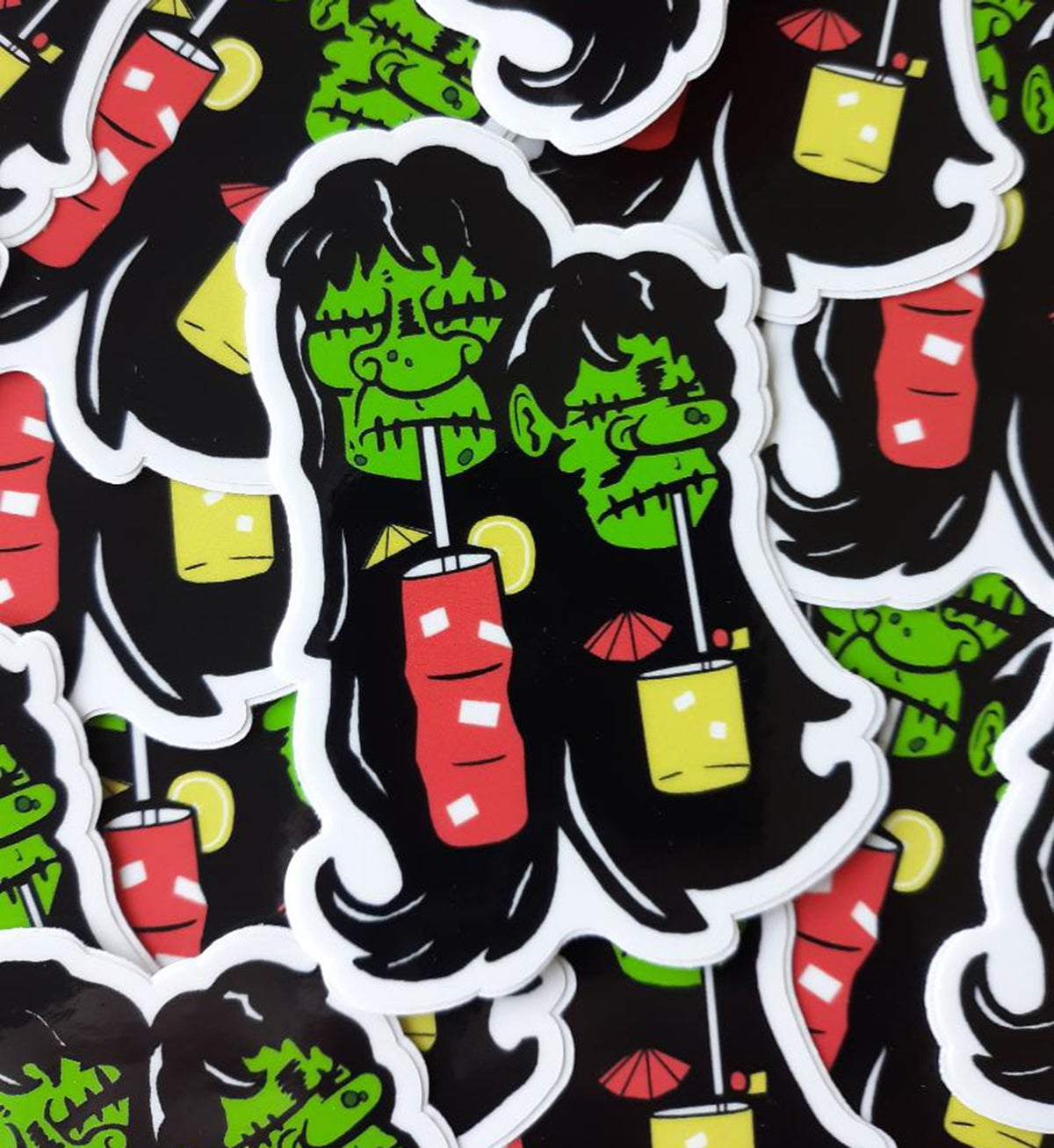 "DRUNKIE SHRUNKIES 3"" Tall Vinyl Sticker"