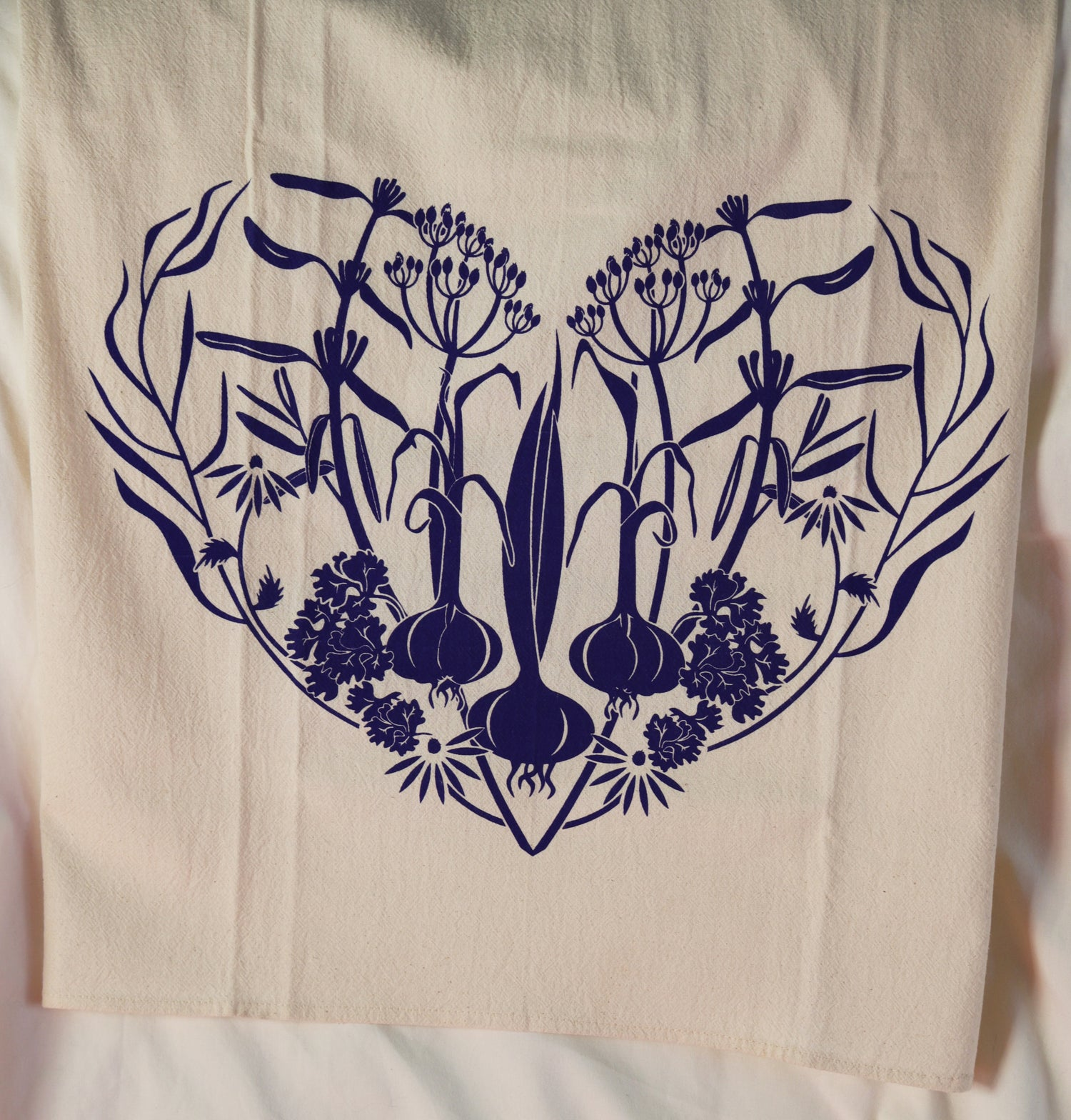 "Image of ""Herb Heart"" Dishtowel"