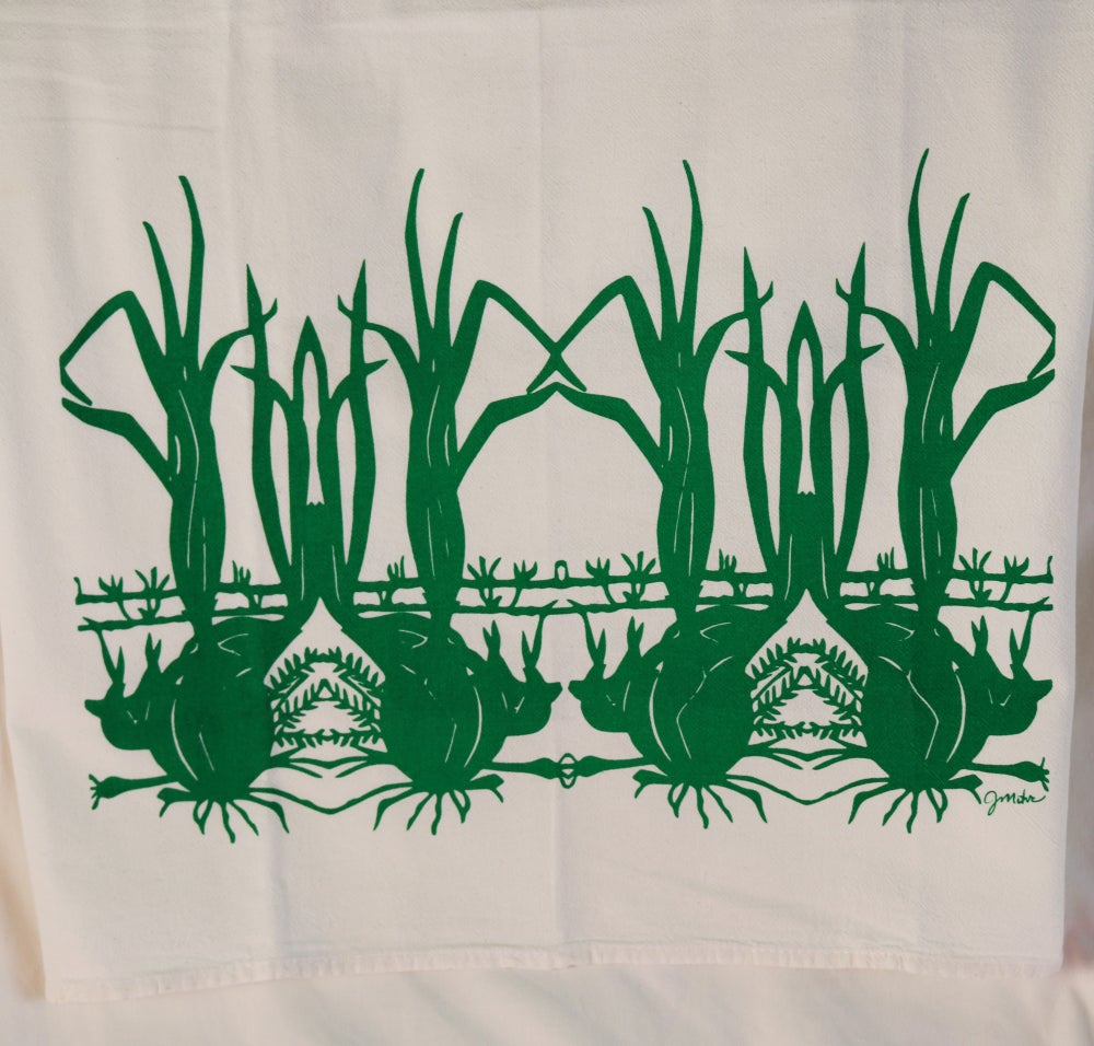 "Image of ""Onions, Garlic & Roesmary"" Dishtowel"