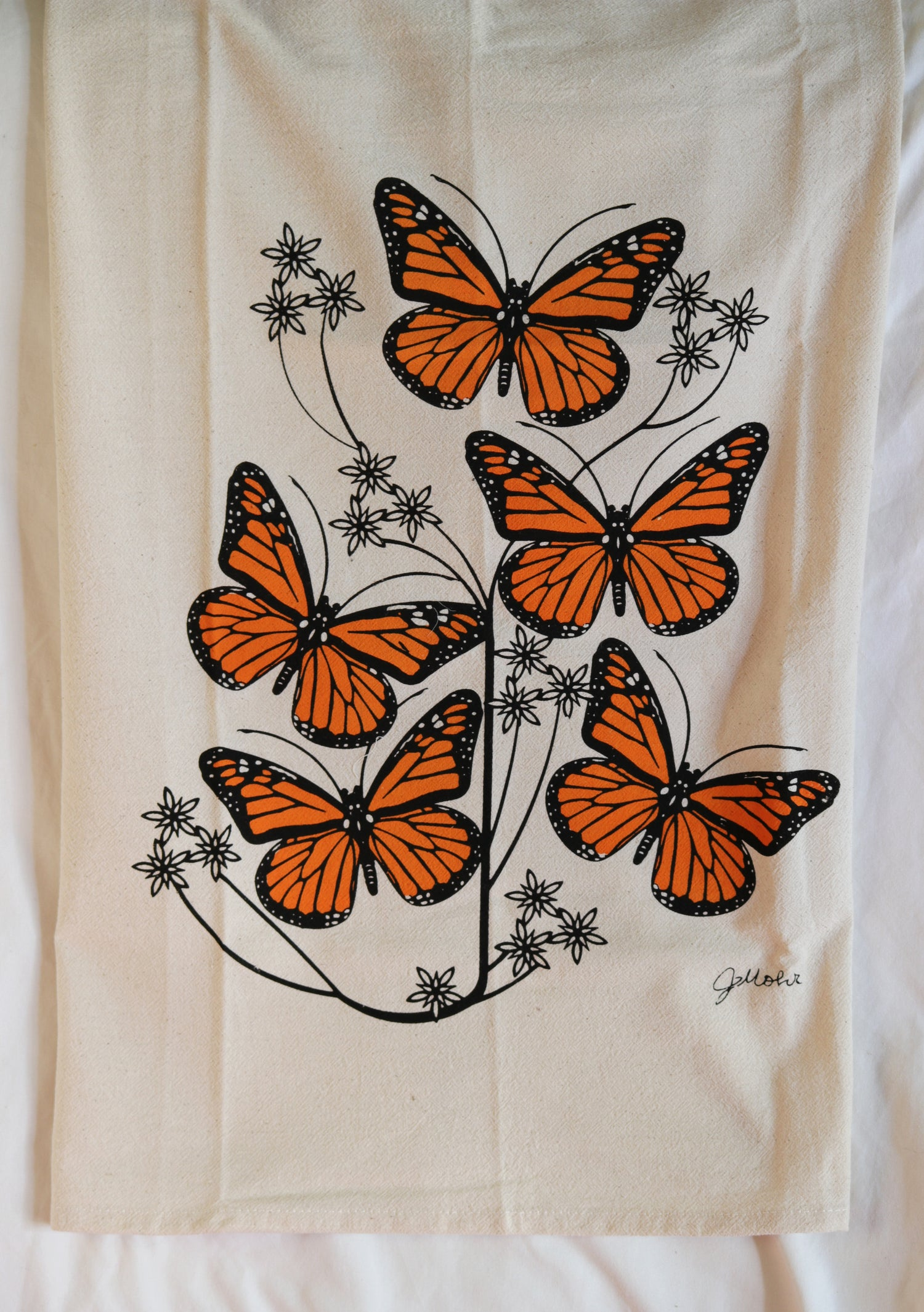 "Image of ""Monarch"" Dishtowel"