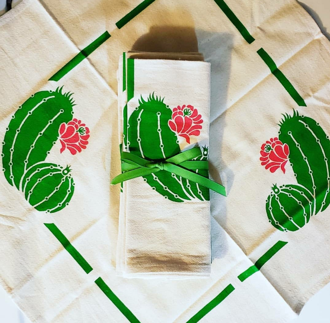 "Image of ""Cactus Flowers"" Napkins"