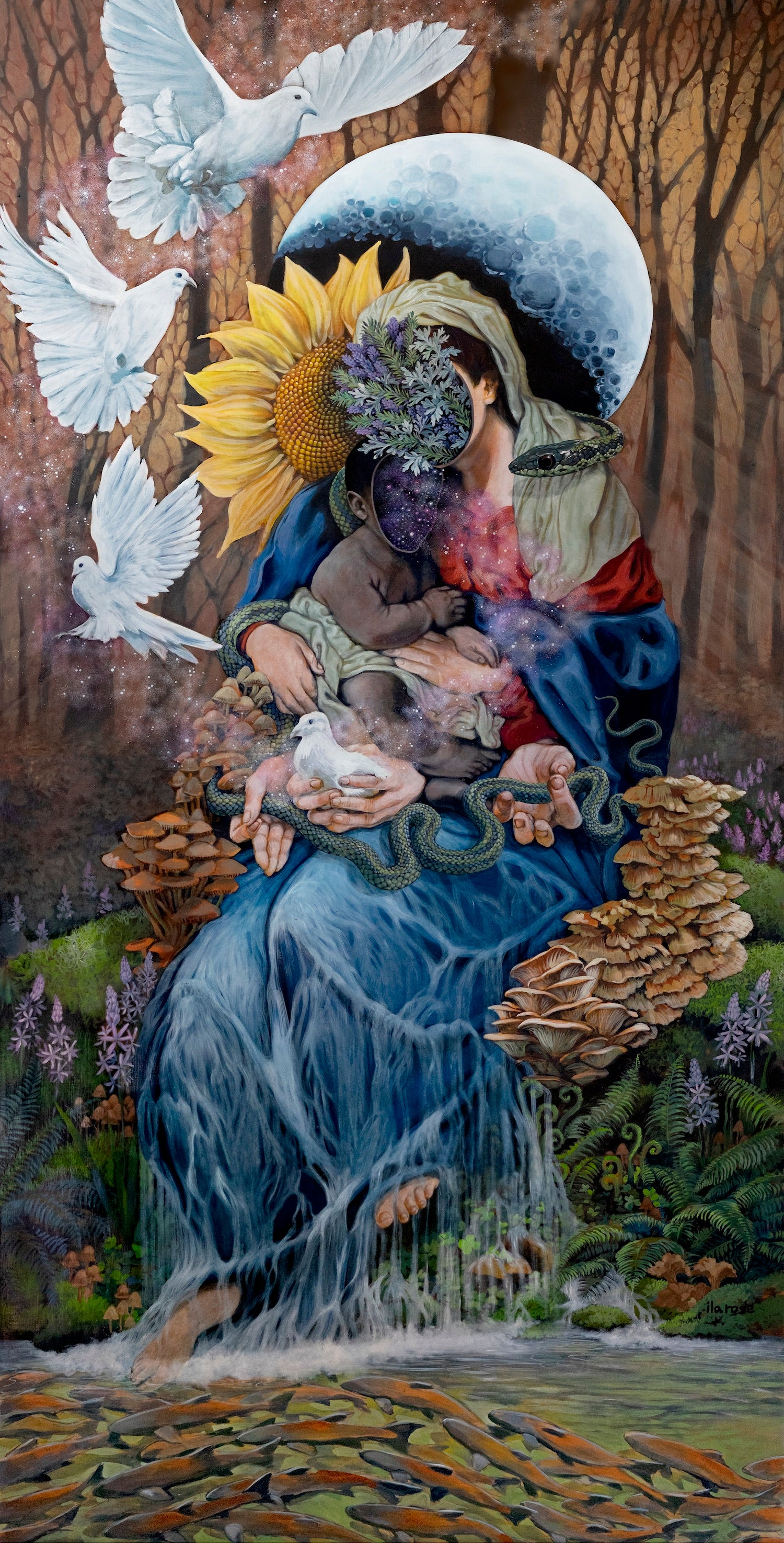 """""""Our Mother"""" (on Canvas)"""