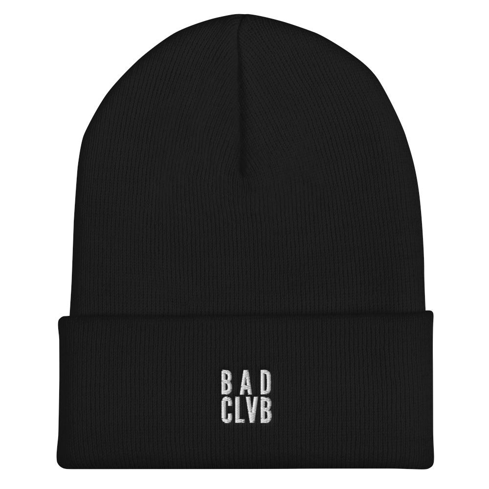 BAD CLVB - (Black/Red) Cuffed Beanie