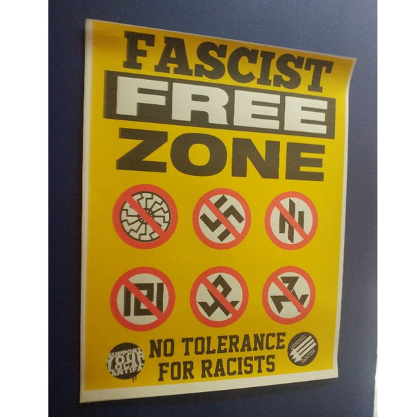 Image of Fascist free zone colored poster 22x28