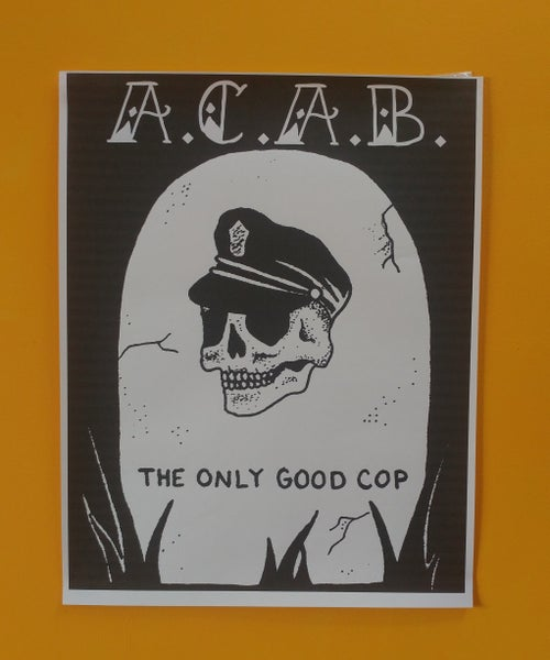 Image of ACAB grave poster 22x28