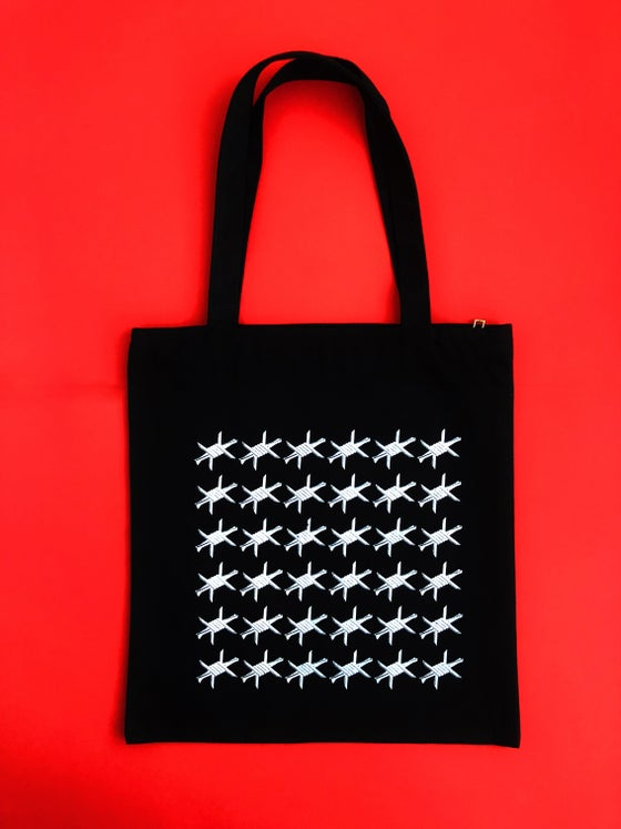 Image of BARBED WIRE MONOGRAM TOTE BAG