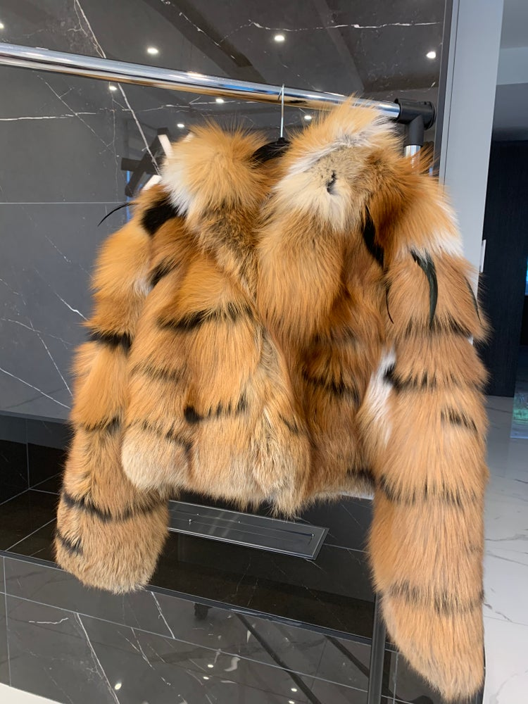 Image of TIGER STRIPE FUR BOMBER