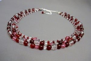 Image of Red 3-Strand Necklace