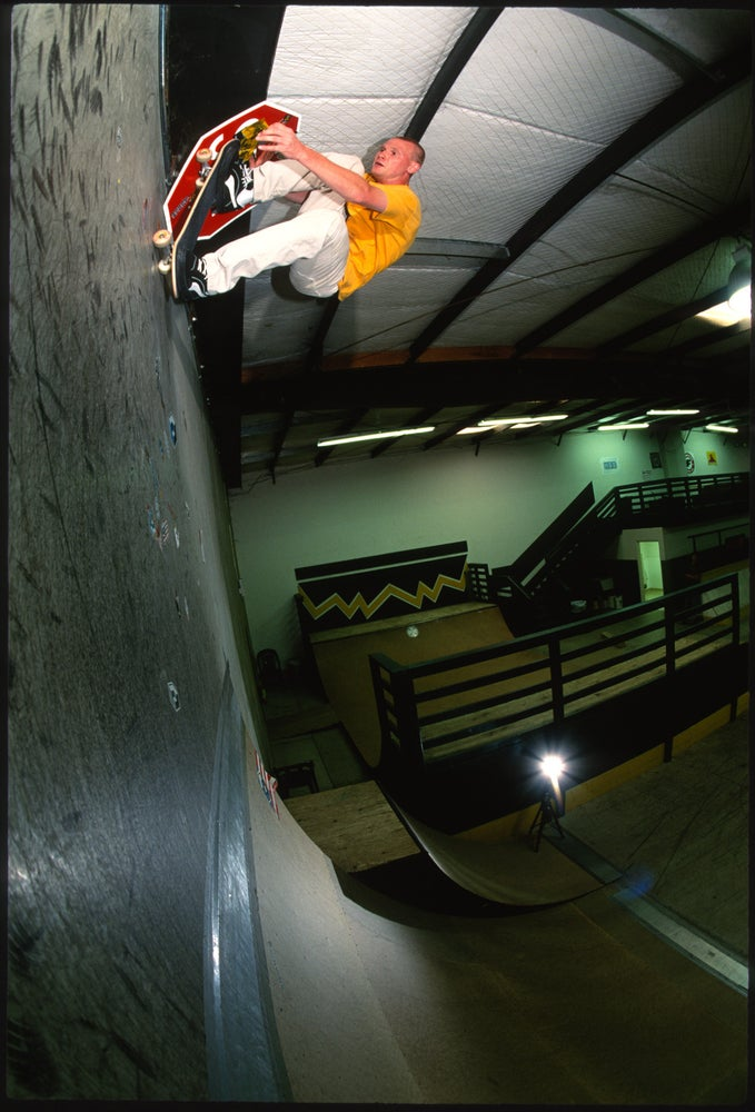 Alan Petersen, Over vert, Fresno skate park