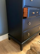Image 2 of Stag tallboy chest of drawers in black.