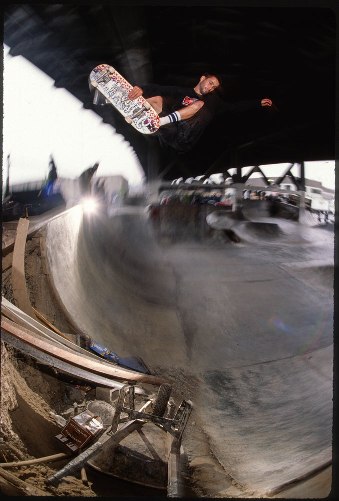 Chris Senn, corner air, PDX 1997 by Tobin Yelland