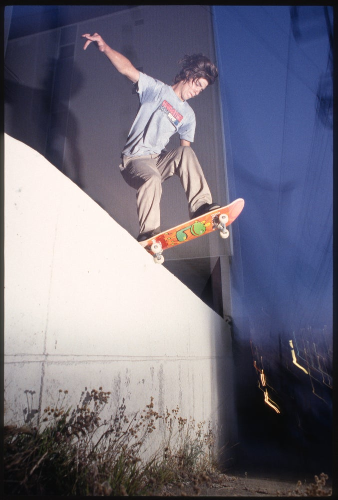 Brad Staba, Backside tailslide, SF 97 by Tobin Yelland