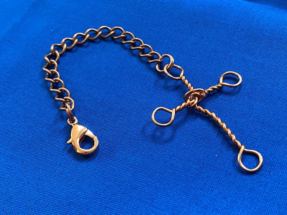 Copper Cross Keychain